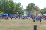 A view of Colts In Motion and our traveling stage at the Kokomo Fan Fest.