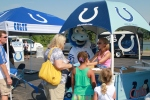Blue tried to persuade fans to join one of our Official Colts Fan Clubs.