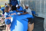 Colt fan Emma was happy to get an autograph from Jerraud Powers.