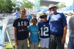 Colts fans Mike and Linda Campbell and friends