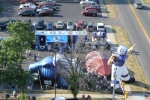 Fans enjoyed the bounce house, Colts slide, Tiny and Colts In Motion at the Fan Fest