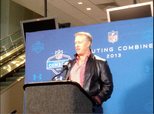 John Elway at NFL Combine Friday