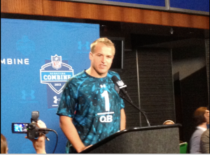 USC quarterback Matt Barkley at NFL Combine